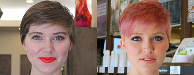 Pink Hair and Makeup Makeover